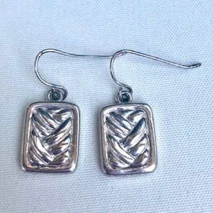 Jewelry - Silver plated textured earrings
